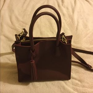 Burgundy satchel purse
